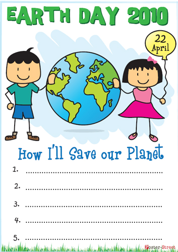 Free Earth Day Poster For Your Elementary Classroom