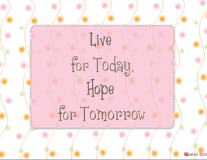 Home Posters-Home Poster - Inspirational Poster - Live for today