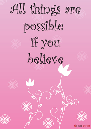Home Posters-Home Poster - Inspirational poster - All things are possible