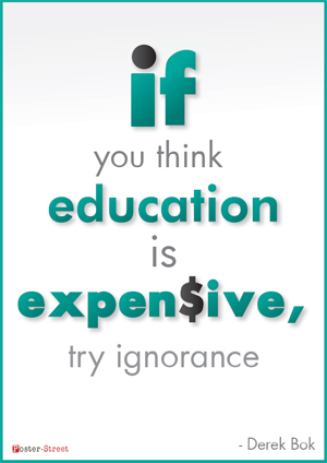 Office Posters - Witty Poster - Education is Expensive