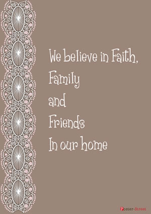 Office Posters-Office Posters - Inspirational Poster - We believe in faith