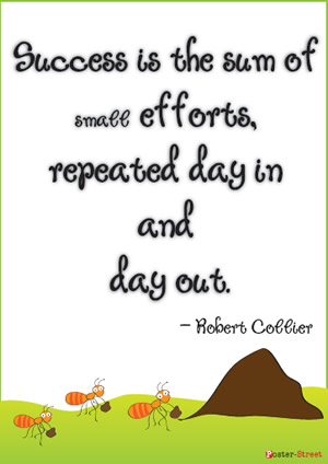 Office Posters-Office Posters - Motivational Posters - Success is the sum of small efforts, repeated day in and day out