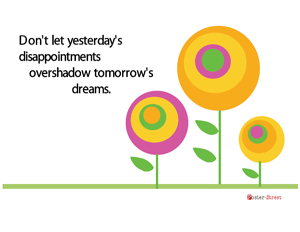 Office Posters-Office Posters - Motivational Posters - Yesterday and Tomorrow