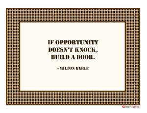 Office Posters-Office Posters - Motivational Posters - Opportunity knocks