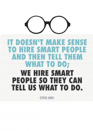 Office Posters-smart people-Steve Jobs
