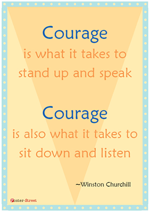 Teen Posters-Teen Poster - Motivational Posters - Courage