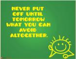 Office Poster - Witty Poster - Until Tomorrow