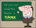 Teacher Posters - If you can read this, thank a teacher
